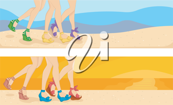 Header Illustration Featuring a Scene at the Beach