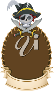 Royalty Free Clipart Image of a Pirate Logo