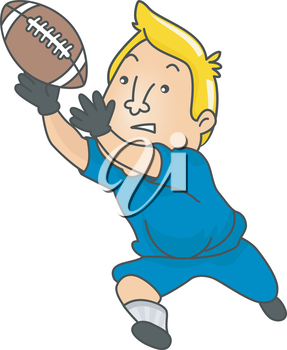 Royalty Free Clipart Image of a Man Playing Football