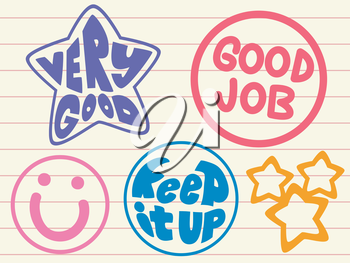 Illustration Featuring Stamp Text for Preschool Students