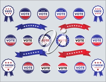 Royalty Free Clipart Image of Vote Buttons