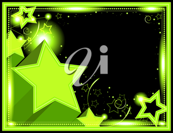 Royalty Free Clipart Image of a Star Background