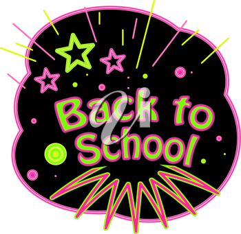Royalty Free Clipart Image of a Back to School Design