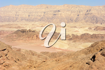 Landscapes and geological formations in the Timna Park in southern Israel