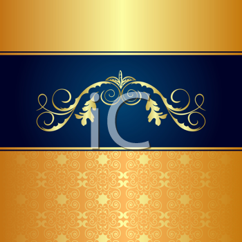 Royalty Free Clipart Image of a Luxurious Background