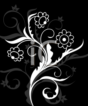 Royalty Free Clipart Image of an Ornate Design