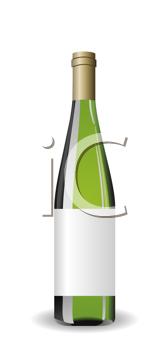 Royalty Free Clipart Image of a Bottle of Wine