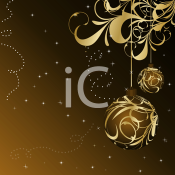Royalty Free Clipart Image of a Decorative Christmas Frame