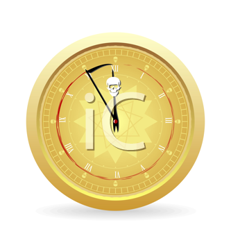 Royalty Free Clipart Image of the Clock of Death