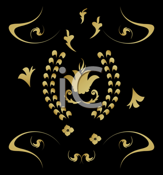 Royalty Free Clipart Image of an Elegant Background