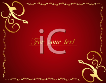 Royalty Free Clipart Image of a Red Background