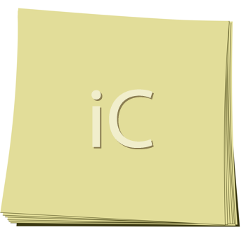 Royalty Free Clipart Image of a Note