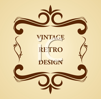 Royalty Free Clipart Image of a Vintage Design
