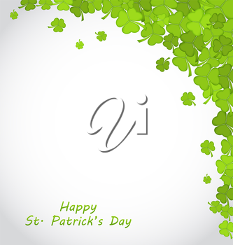 Illustration Greeting Background with Clovers for St. Patricks Day - Vector