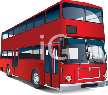 Royalty Free Clipart Image of a Double Decker Bus