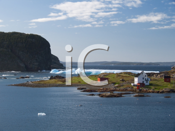 Royalty Free Photo of an Iceberg in the Bay of Newfoundland