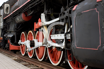 Royalty Free Photo of Steam Engine Wheels