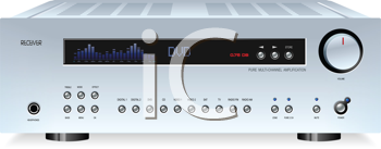 Royalty Free Clipart Image of an Audio Hi-Fi Stereo Sound Receiver