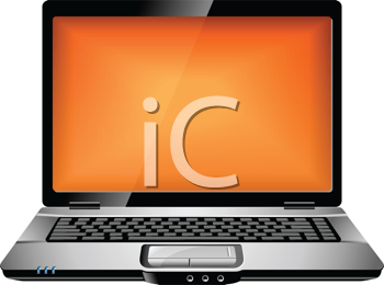 Royalty Free Clipart Image of a Laptop