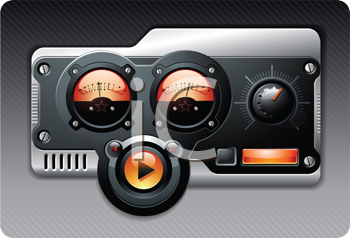 Royalty Free Clipart Image of a Radio Broadcasting Device