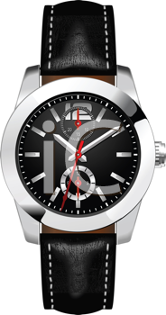 Royalty Free Clipart Image of a Man's Wrist Watch