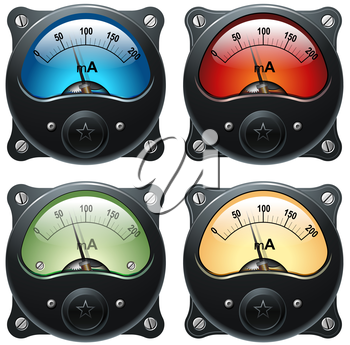 Royalty Free Photo of Electronic VU Signal Meters