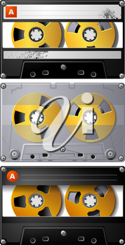 Royalty Free Clipart Image of Cassette Tapes