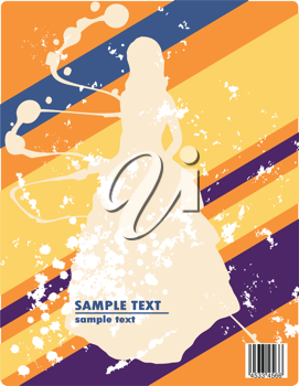 siluette in garment simple lines and graphics vector illustration