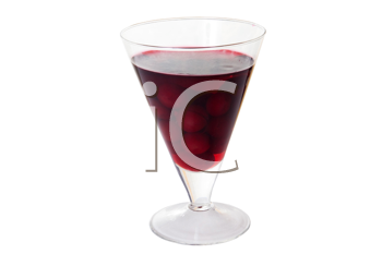 Royalty Free Photo of Cerise Dessert in a Glass