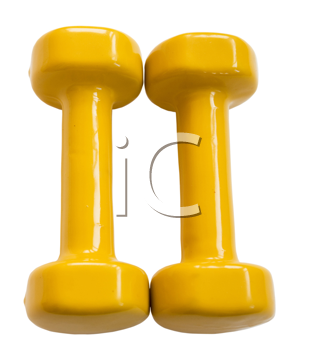 dumbbells, simulator for occupation by sport(clipping path included)