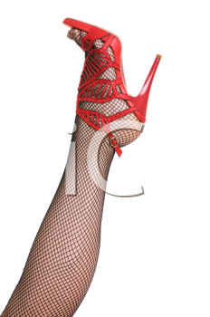 Royalty Free Photo of a Woman's Leg Wearing a High Heel