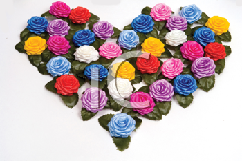 Royalty Free Photo of a Plastic Rose Heart