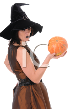 Royalty Free Photo of a Woman Dressed as a Witch