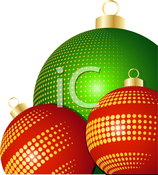 Royalty Free Clipart Image of  Christmas Baubles