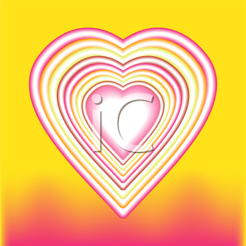 Royalty Free Clipart Image of a Heart Backgrounds
