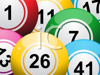 Royalty Free Clipart Image of Lottery Balls