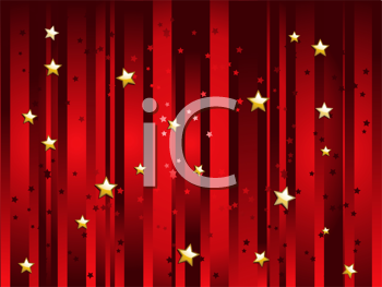 Royalty Free Clipart Image of a Festive Starry Background