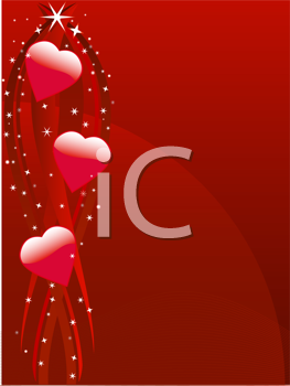 Royalty Free Clipart Image of a Sparkling Heart Background