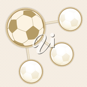 Football infographic on a brown and white background