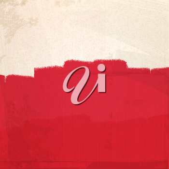 Abstract Grunge Red Paint Background