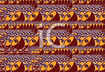 Royalty Free Clipart Image of a Coffee Cup Border