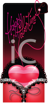 Royalty Free Clipart Image of a Valentine's Greeting Card
