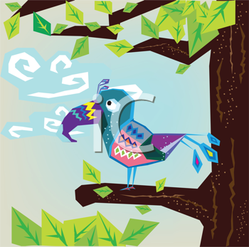 Royalty Free Clipart Image of a Toucan