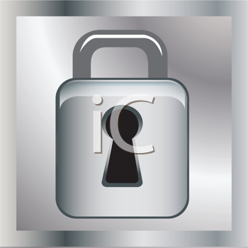 Royalty Free Clipart Image of a Lock