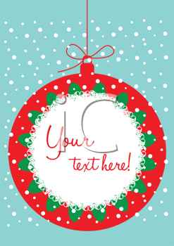 Royalty Free Clipart Image of a Christmas Design With Space for Text