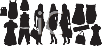 Royalty Free Clipart Image of Fashion Images