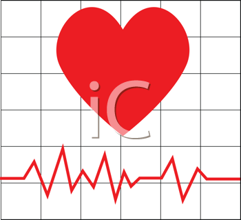 Royalty Free Clipart Image of a Heartbeat