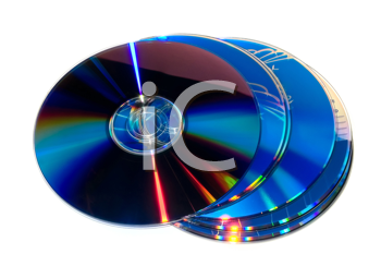 Royalty Free Photo of a Stack of CD/DVDS