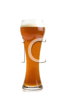 Glass of Brown Beer isolated on a white background