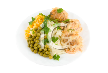 Royalty Free Photo of a Meal on a Plate